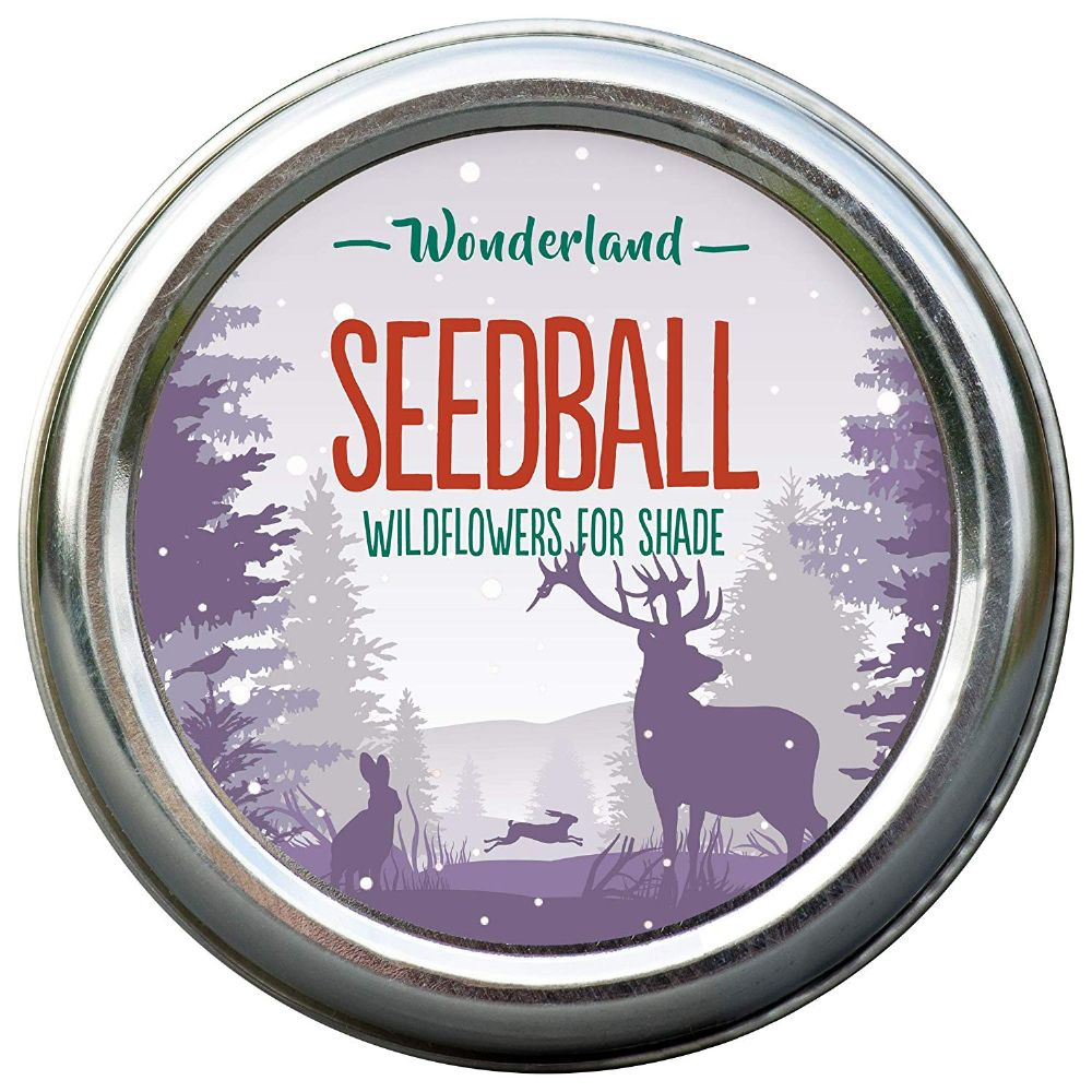 Wonderland Tin of Seedballs for shady spots in your garden or balcony.